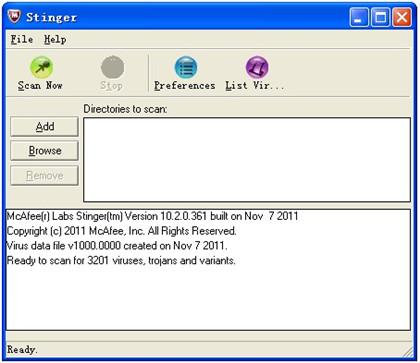 McAfee AVERT Stinger 10.2.0.870