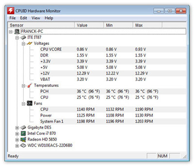 HWMonitor 1.21 64-bit 绿色版